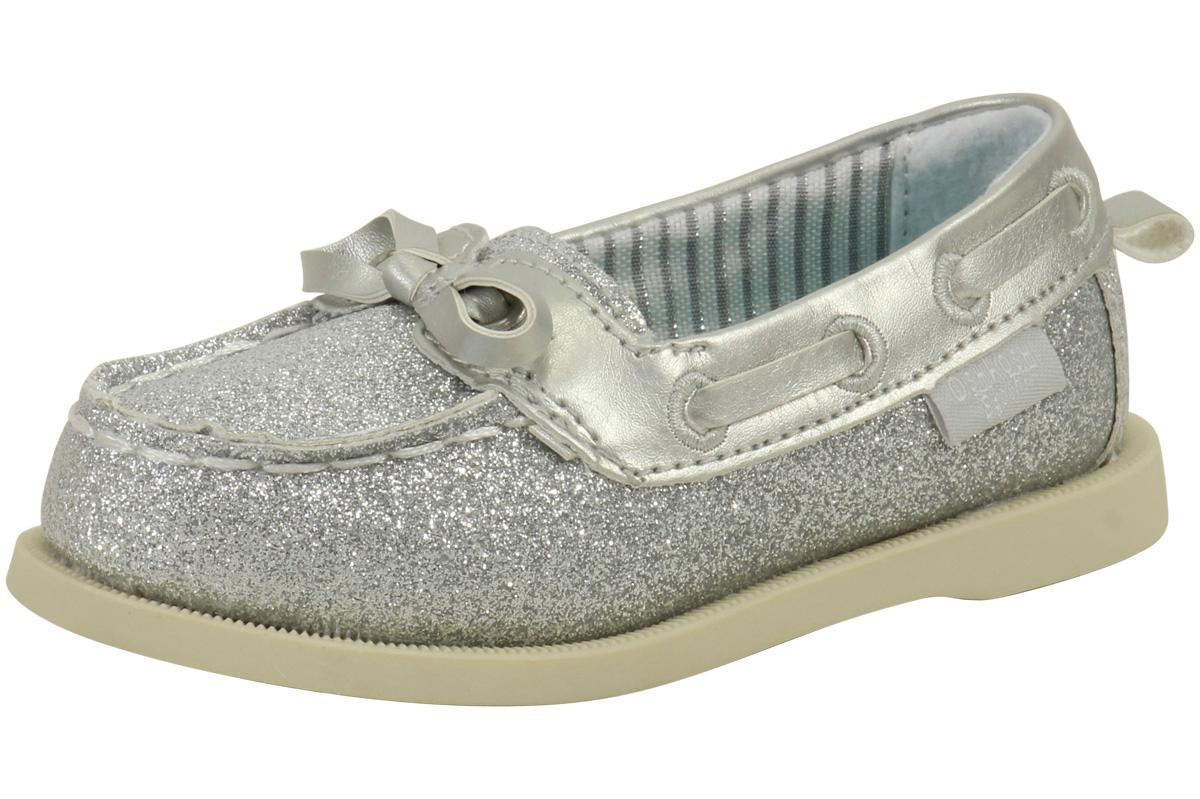 c65136bab84 OshKosh B gosh Toddler Little Girl s Georgi3 Sparkle Slip-On Boat Shoes