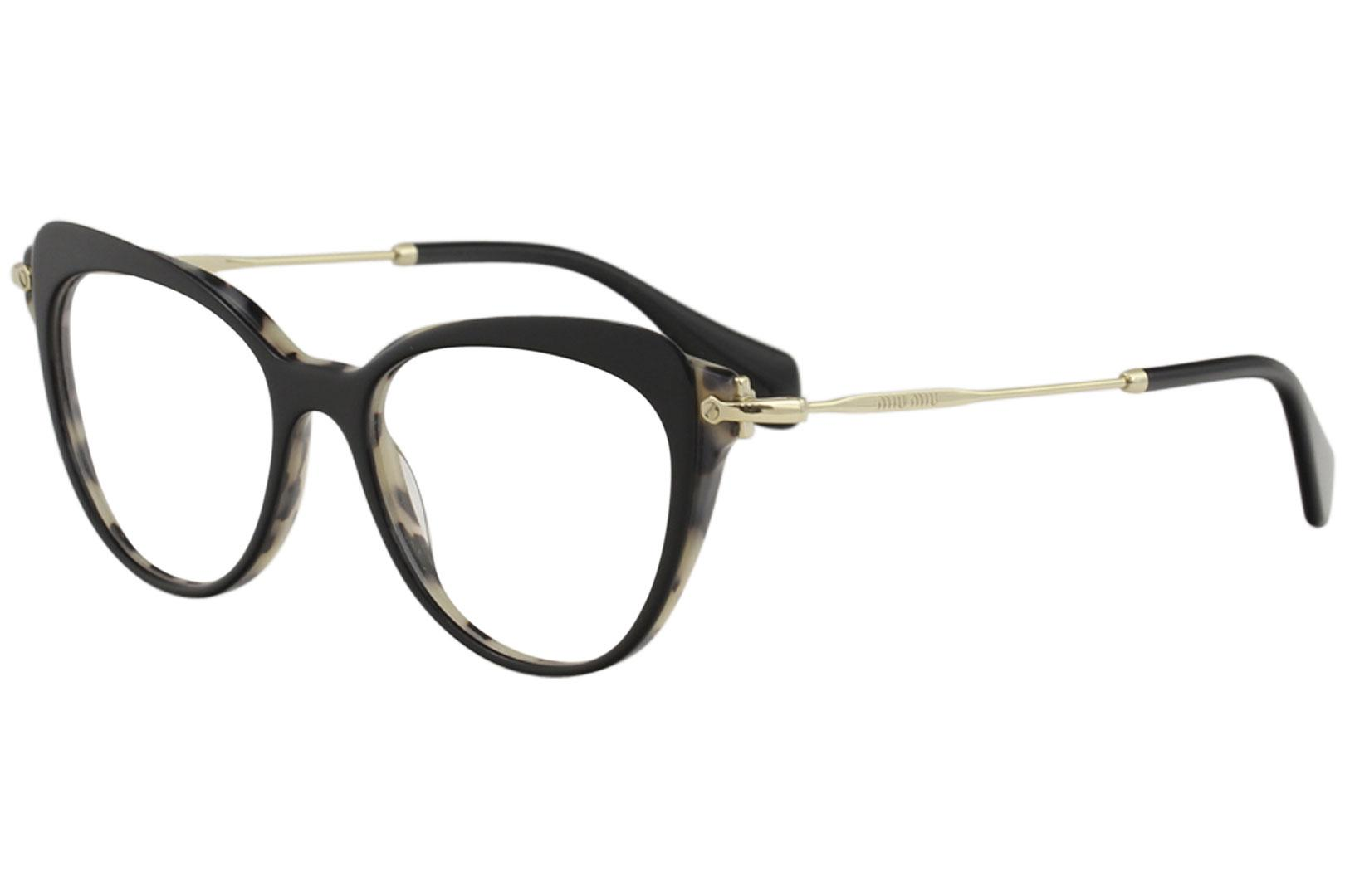Image of Miu Miu Women's Eyeglasses VMU01Q VMU/01Q Full Rim Optical Frame - Black - Lens 52 Bridge 17 B 44 ED 57.4 Temple 140mm