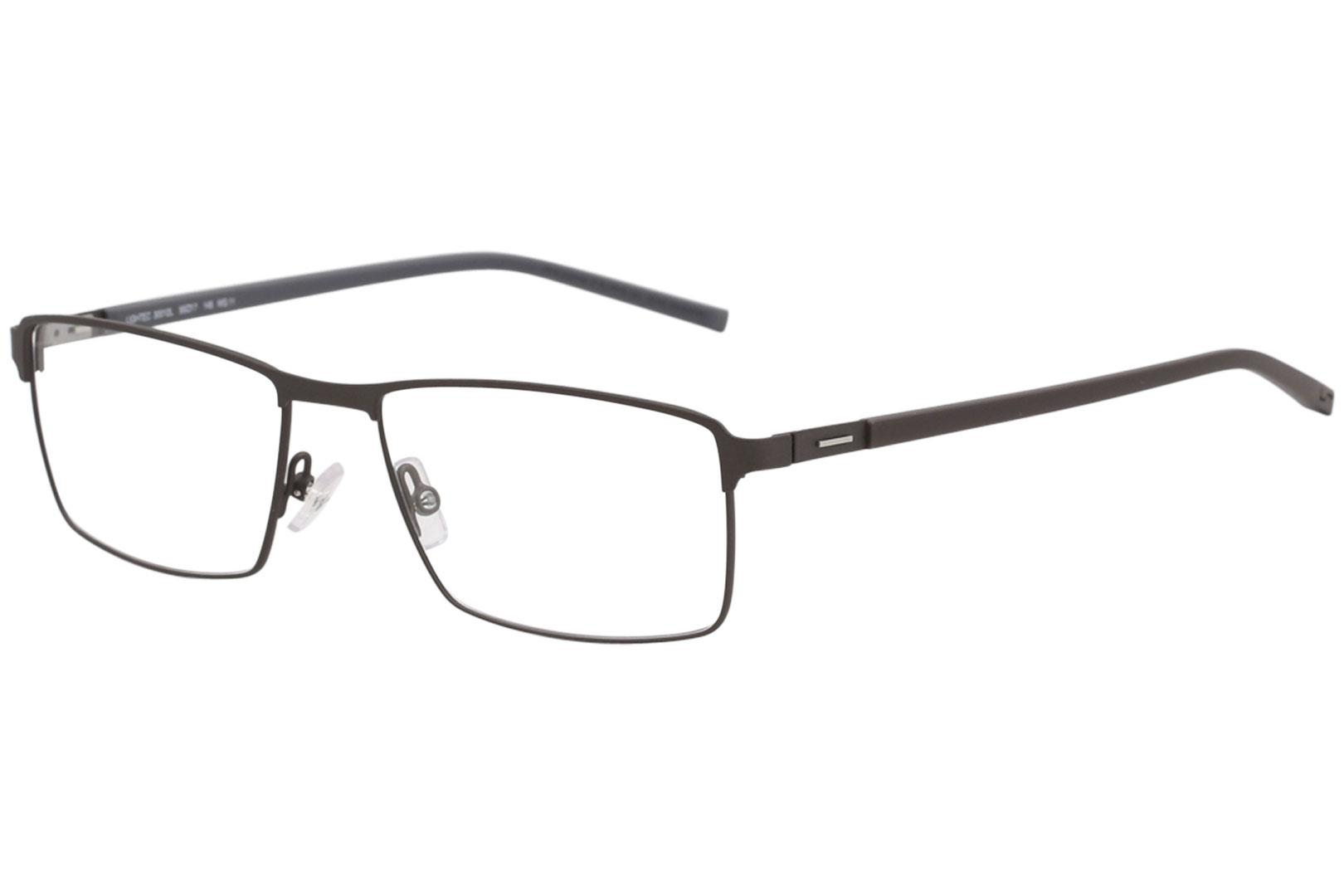 Image of Morel Men's Eyeglasses Lightec 30012L 30012/L Full Rim Optical Frame - Brown   MG11 - Lens 55 Bridge 17 Temple 145mm