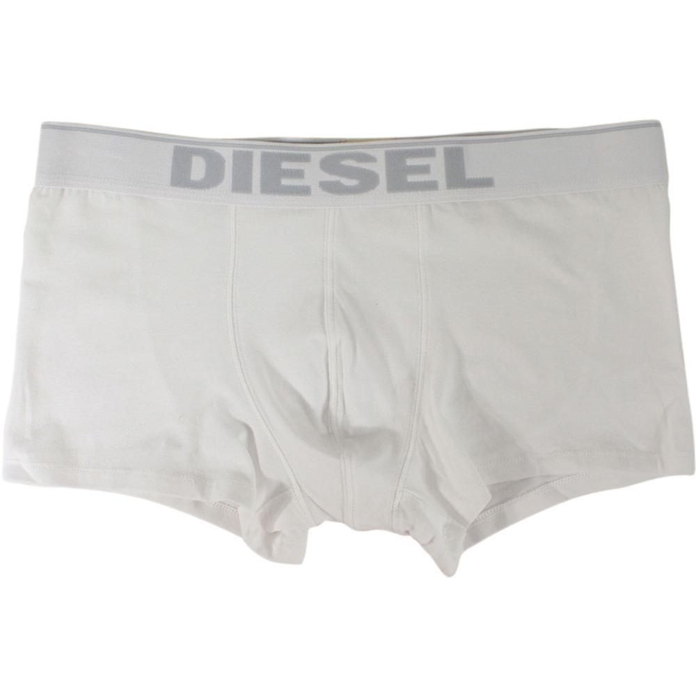 Image of Diesel Men's Breddo White With White Band Boxer Briefs - White - X Large
