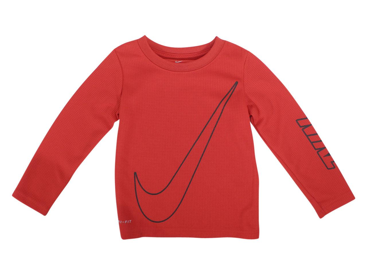 Nike Toddler Boy's Dri-FIT Long Sleeve Crew Neck Thermal T-Shirt