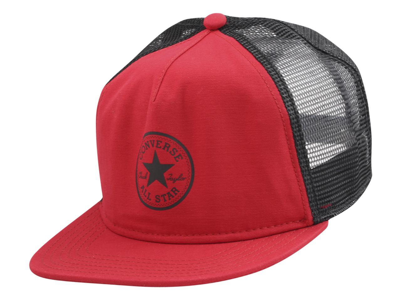 19140a7261b Converse Men s All Star Chuck Taylor Core Trucker Cap Baseball Hat (One  Size)