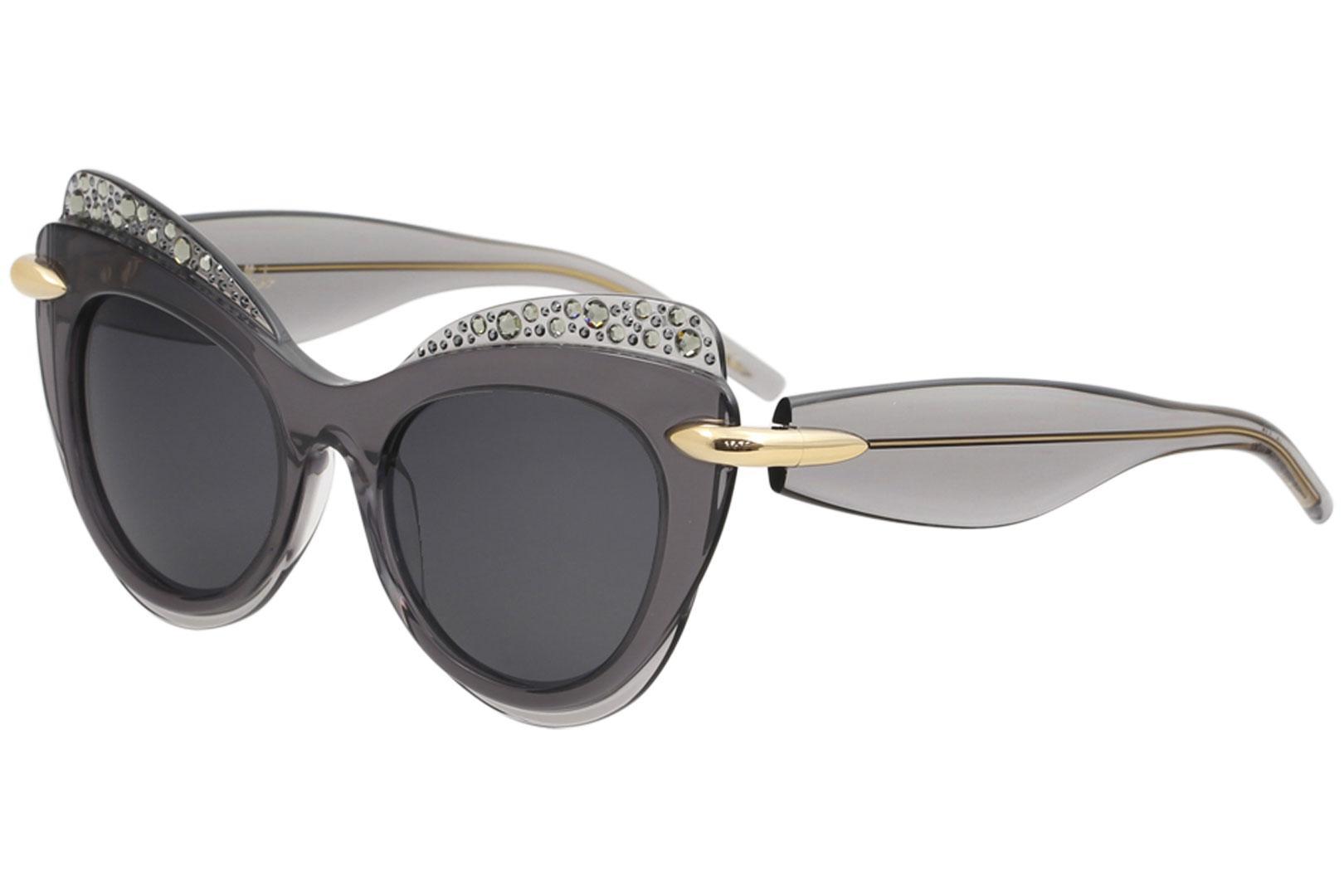 Image of Pomellato Women's PM0002S PM/0002/S Fashion Cat Eye Sunglasses - Grey - Lens 51 Bridge 19 Temple 140mm