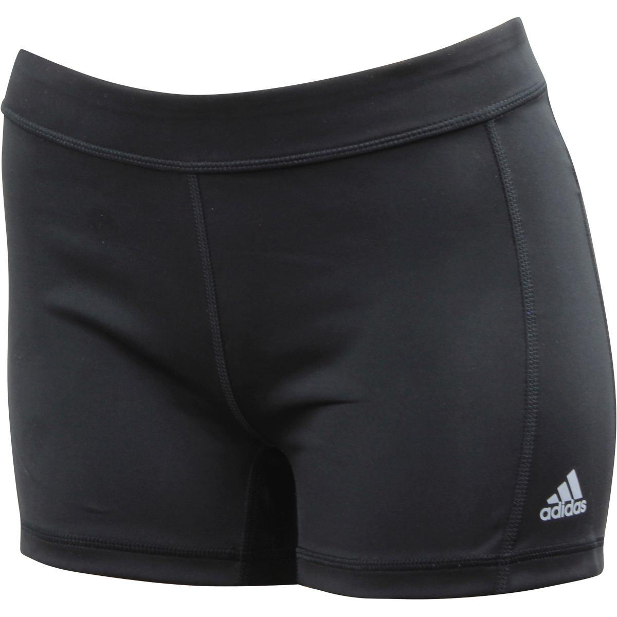 Adidas Techfit Boyshort Black/White/Matte Silver Stretch Climalite Shorts Techfit Boyshort; AJ2225