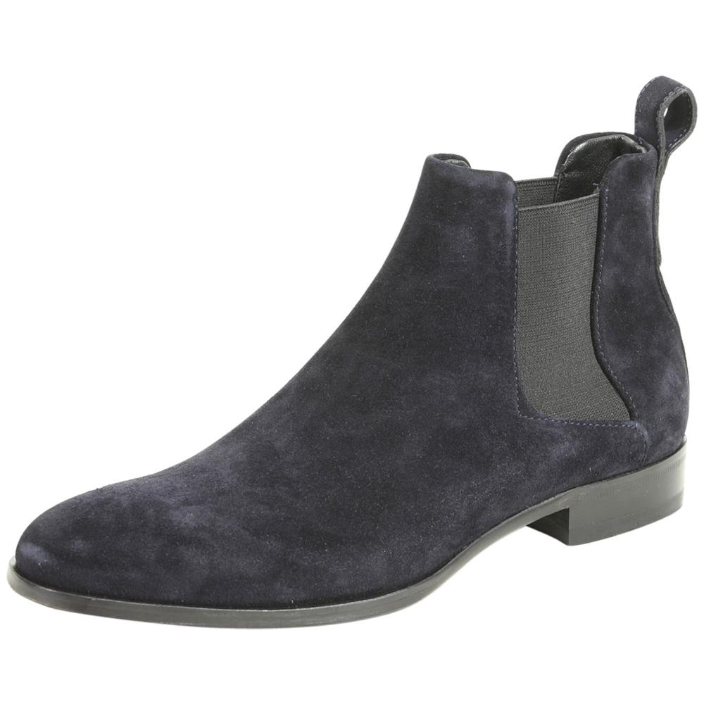 Hugo Boss Men's Cult Suede Leather Chelsea Boots Shoes