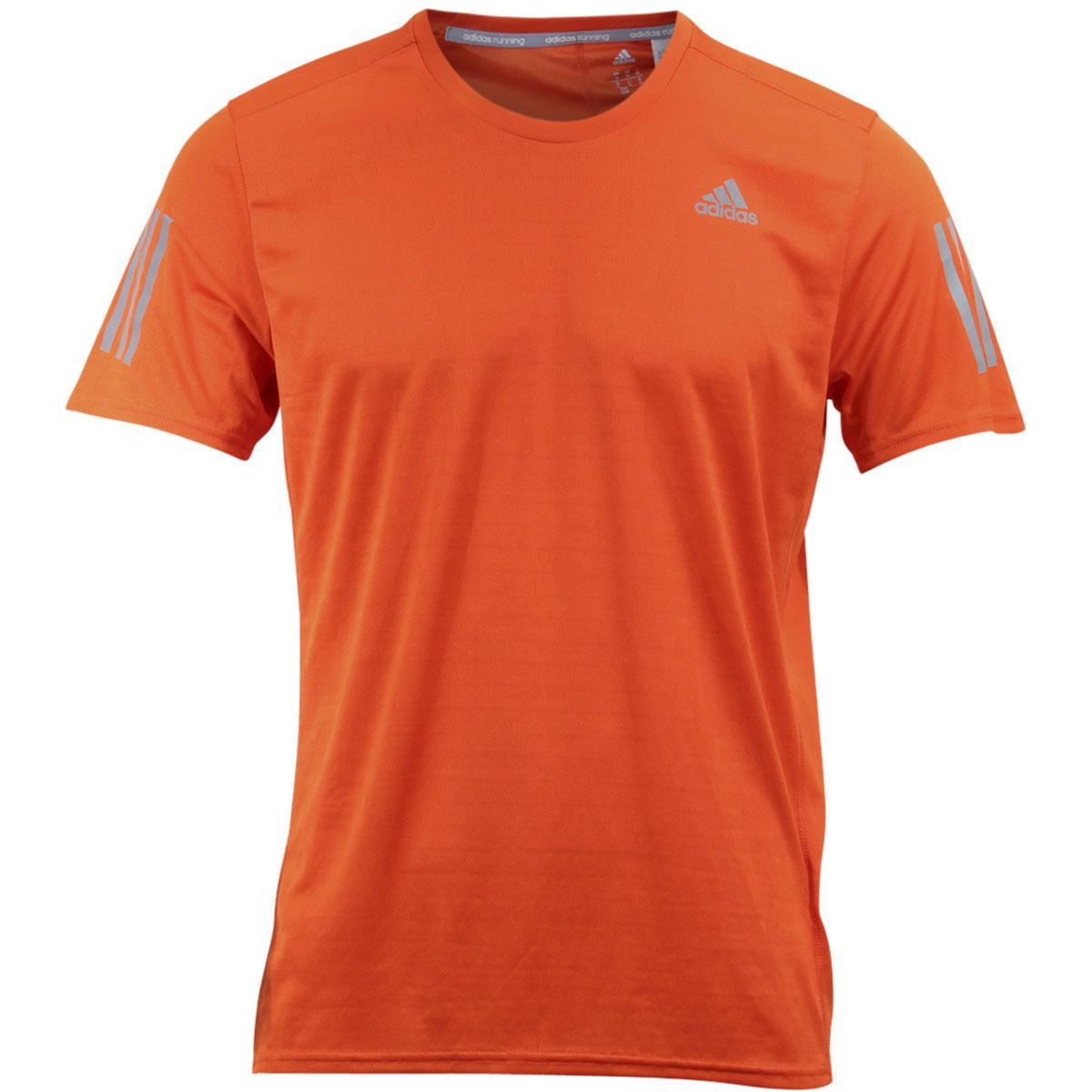 Image of Adidas Men's Response Trail Running Climacool Short Sleeve T Shirt - Energy - Small