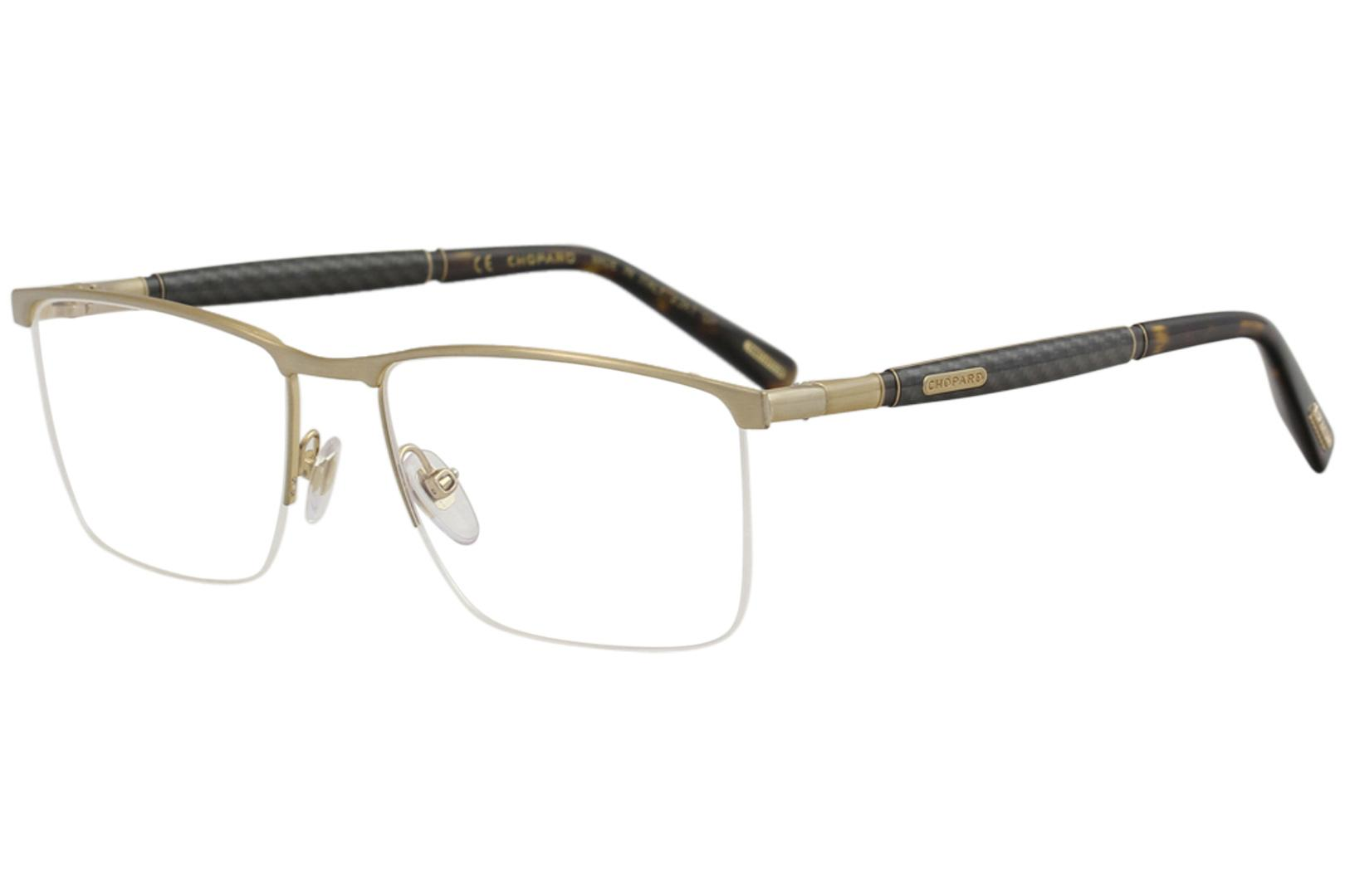 f397882855b Chopard Eyeglasses VCHC38 VCH   C38 0H22 23K Gold Half Rim Optical Frame  57mm