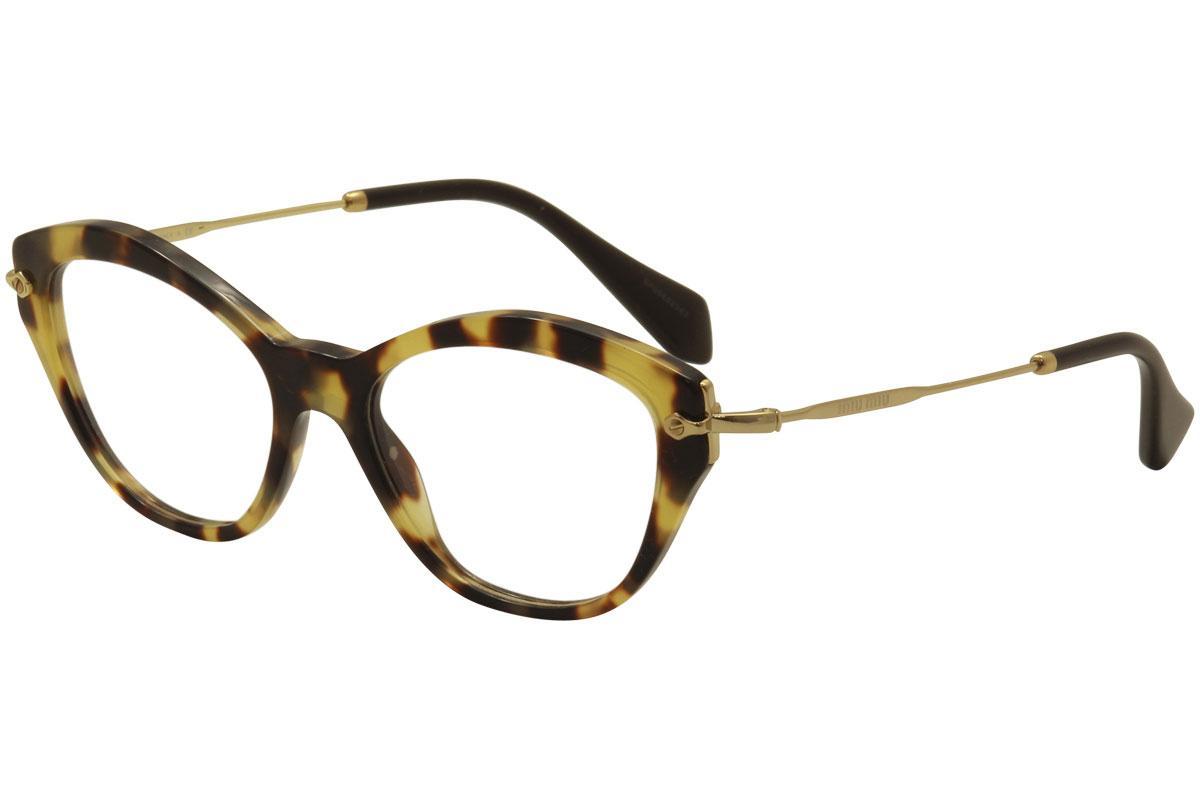 7196b2cde62e Miu Miu Women s Eyeglasses VMU02O VMU 02O Full Rim Cat Eye ...