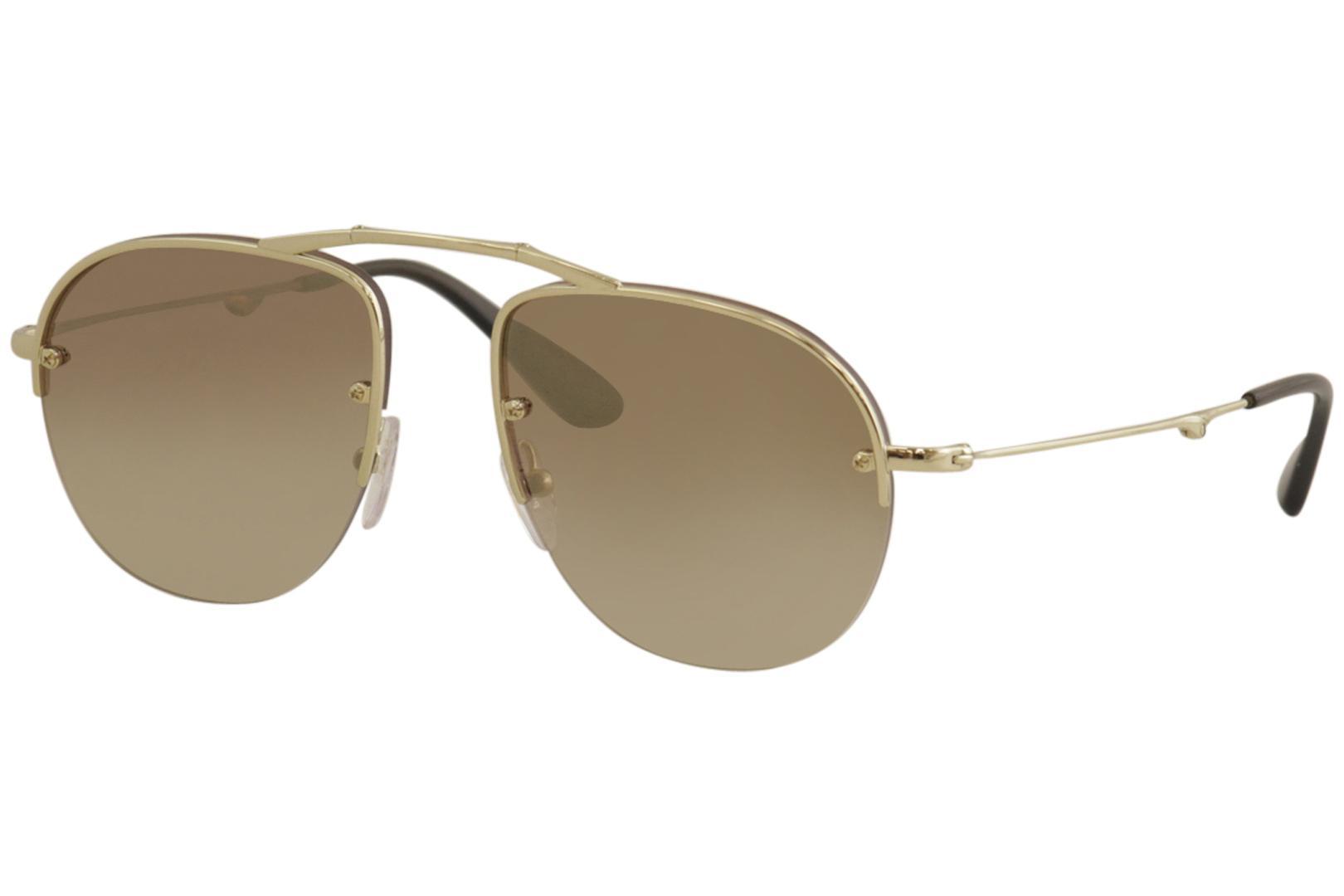 5e11ebc4b94e Prada Women's SPR54U SPR/54/U Folding Pilot Sunglasses