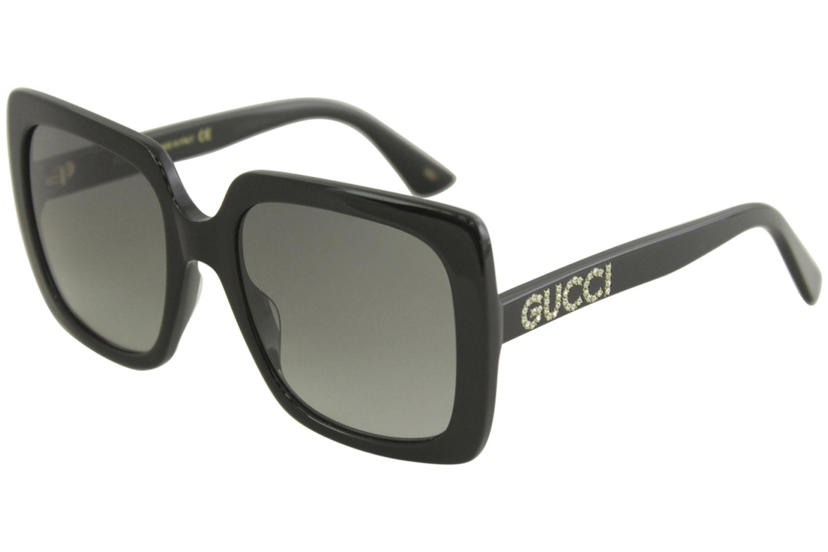Gucci Women's GG0418S GG/0418/S Fashion Square Sunglasses