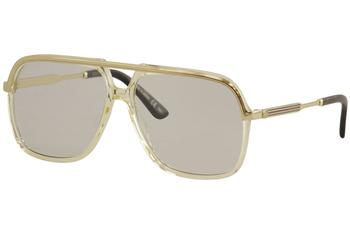 Gucci Men's GG0200S GG/0200/S Fashion Pilot Sunglasses