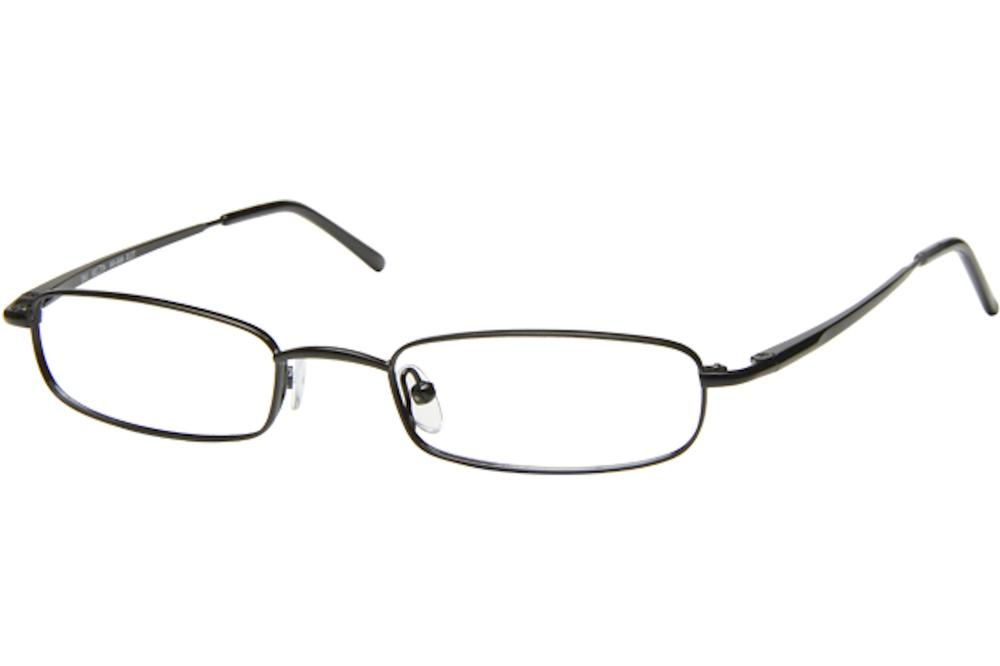 Image of Tuscany Men's Eyeglasses 466 Full Rim Optical Frame - Black   04 - Lens 47 Bridge 20 Temple 145mm
