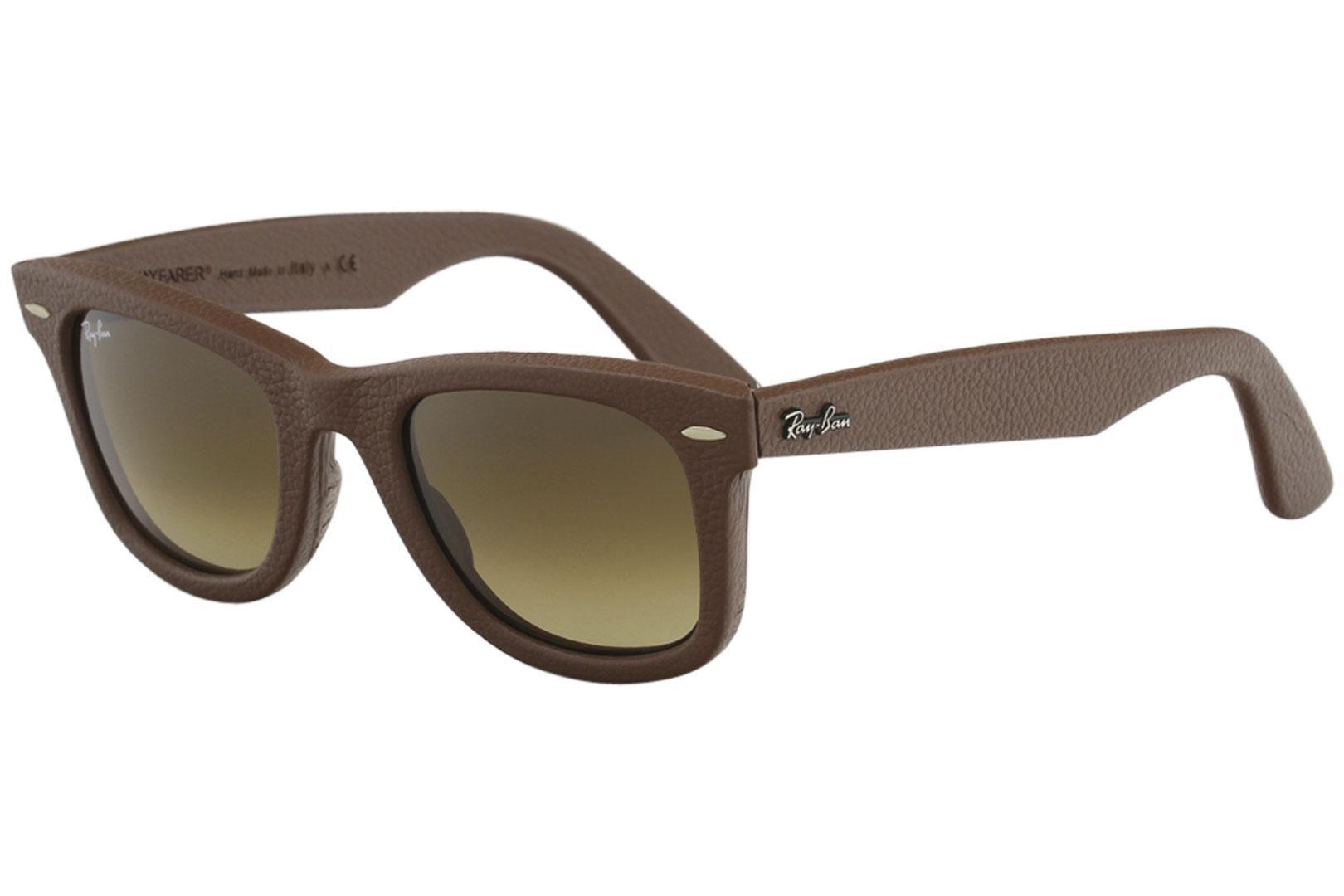 783c7273ff4c8c Ray Ban 2140QM 2140 QM RayBan Wayfarer Leather Sunglasses