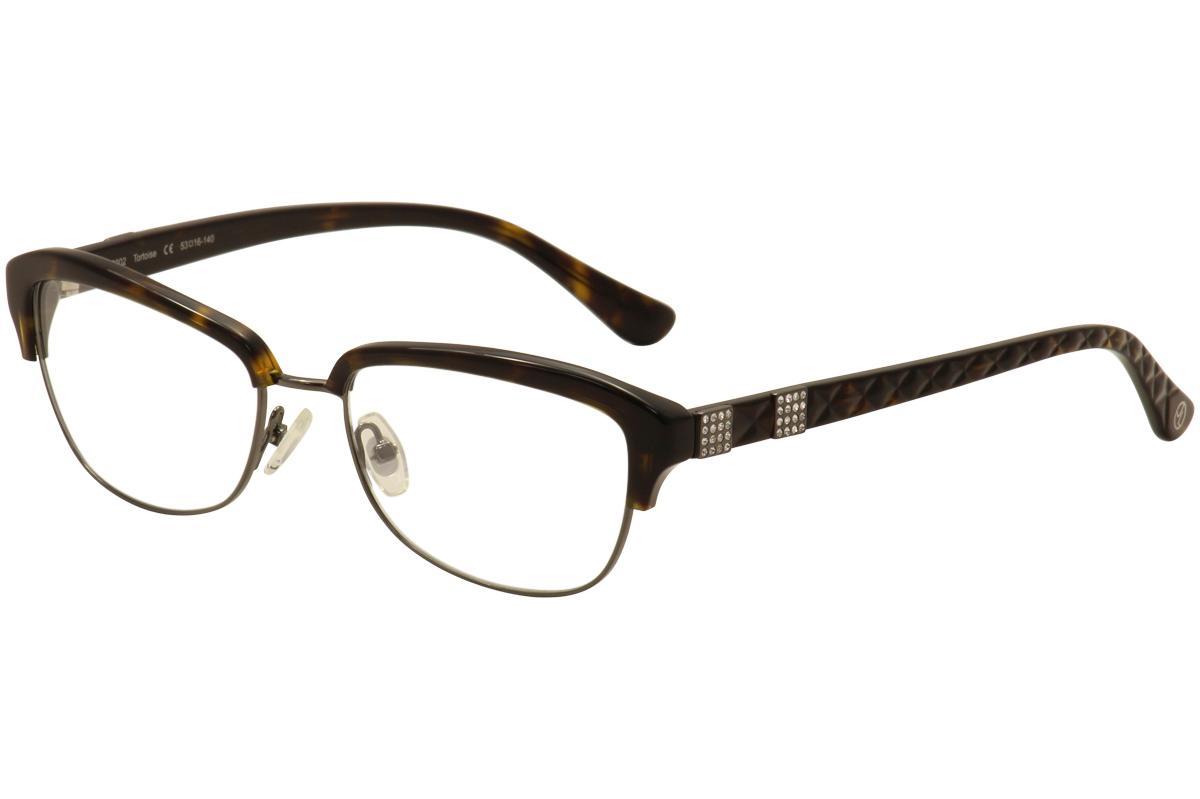 Image of JL By Judith Leiber Women's Eyeglasses JL3002 JL/3002 Full Rim Optical Frame - Brown - Lens 53 Bridge 16 Temple 140mm