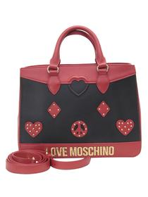 Love Moschino Women's Heart & Peace Patch Satchel Handbag