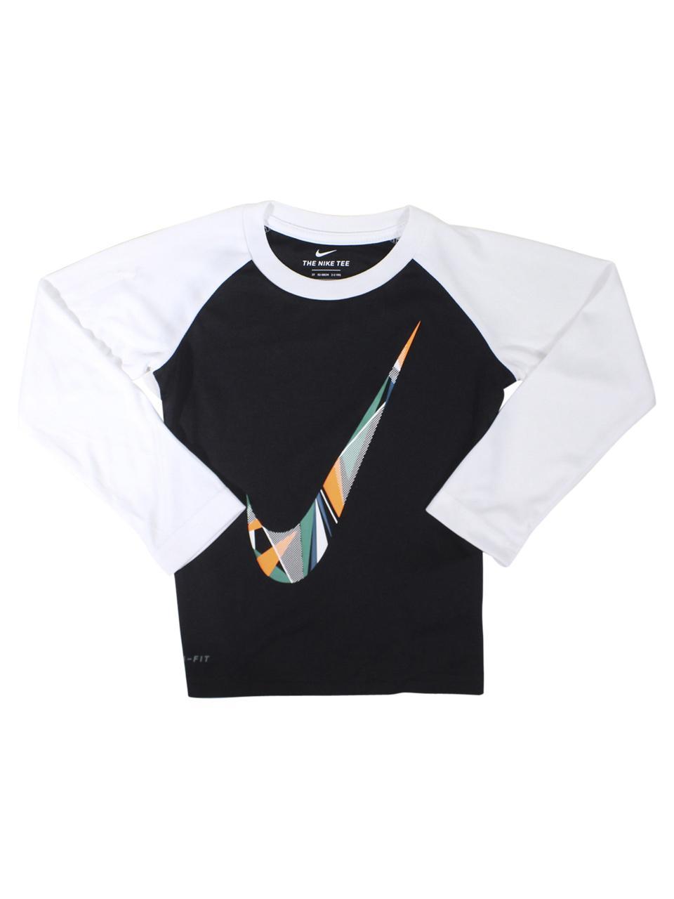 Nike Toddler Boy's Dri-FIT Long Sleeve Crew Neck Raglan T-Shirt