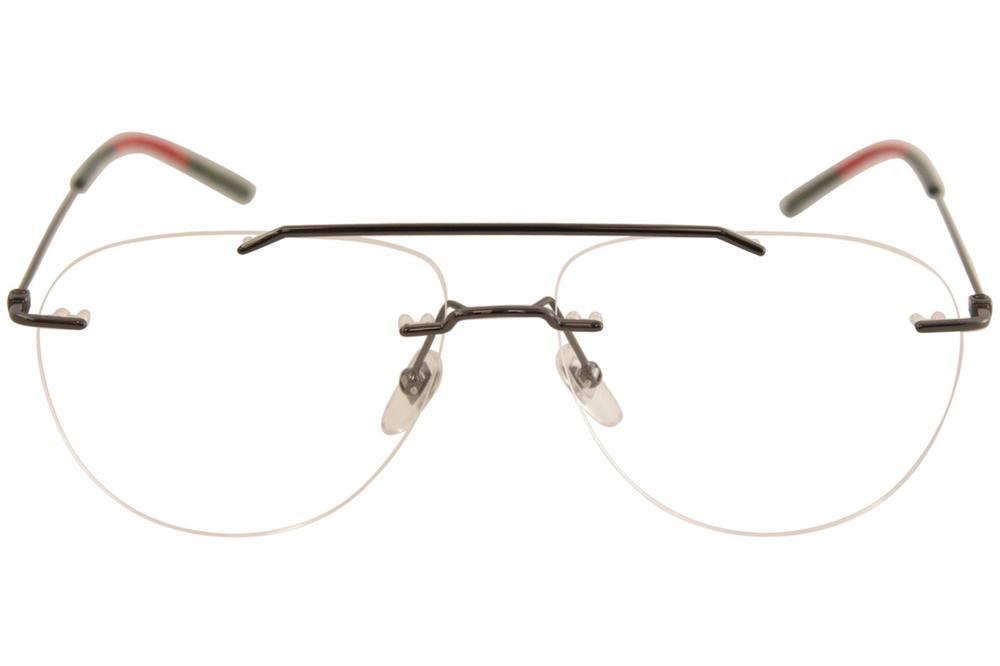 e1b2985f0962 Gucci Men's Eyeglasses GG0398O GG/0398/O Rimless Optical Frame by Gucci