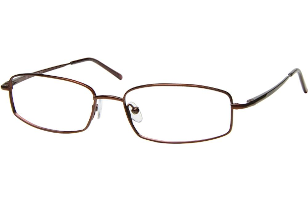 Image of Tuscany Men's Eyeglasses 467 Full Rim Optical Frame - Brown   02 - Lens 54 Bridge 17 Temple 145mm