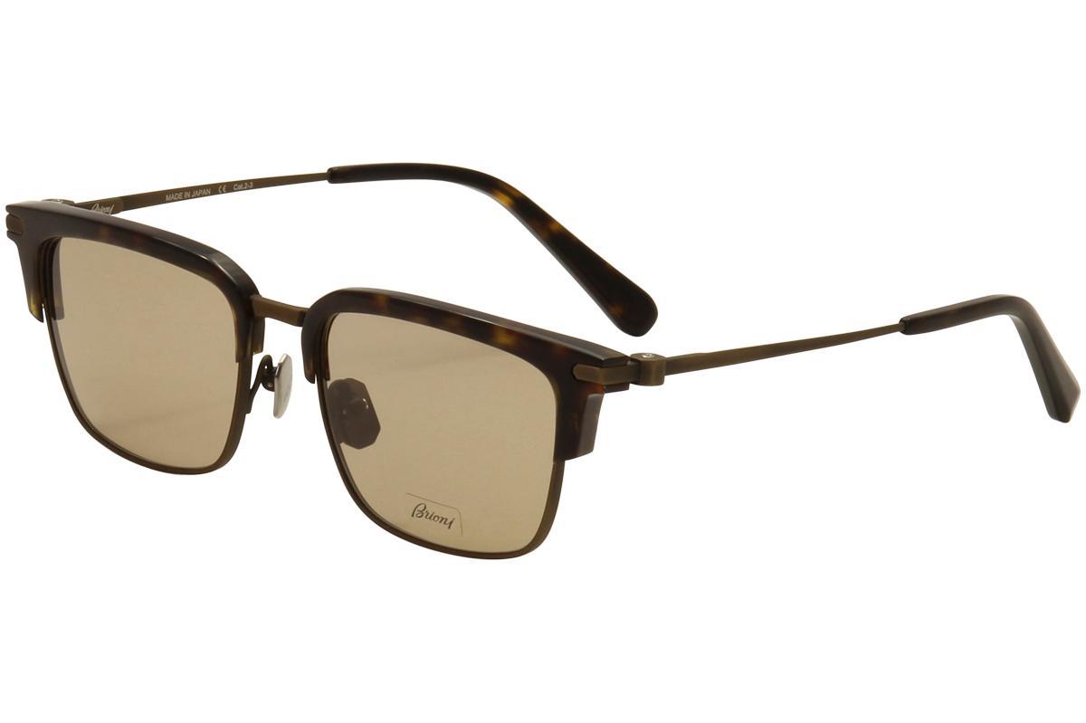 Image of Brioni Men's BR 0007S 0007/S Fashion Wayfarer Sunglasses - Brown - Lens 53 Bridge 18 Temple 145mm