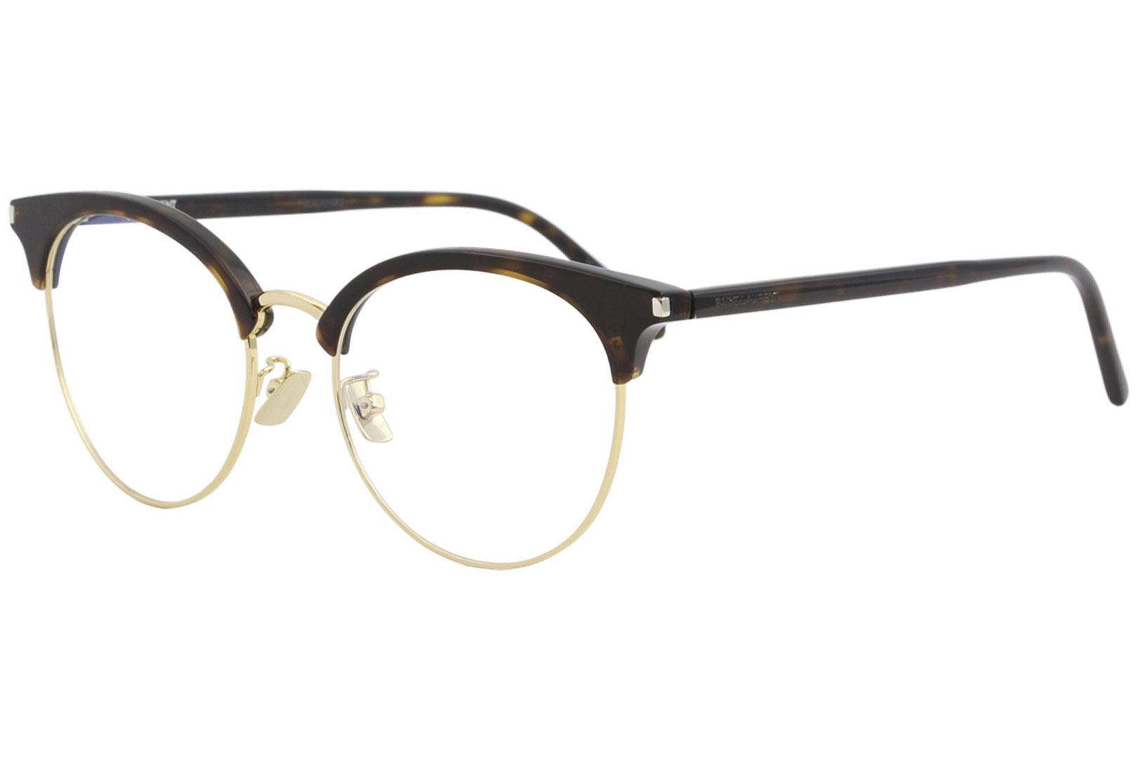 Image of Saint Laurent Eyeglasses SL233/F SL/233/F Full Rim Optical Frame - Havana/Gold   003 - Lens 52 Bridge 18 Temple 150mm