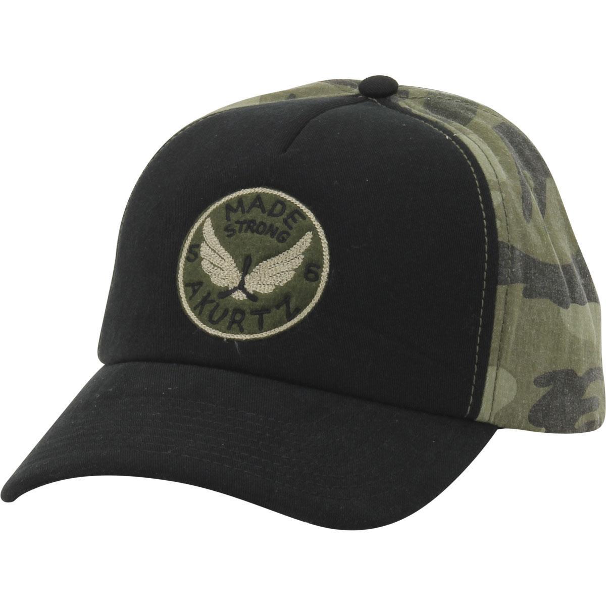Image of Kurtz Men's Camo Made Strong Baseball Cap Hat - Black/Camo - One Size Fits Most