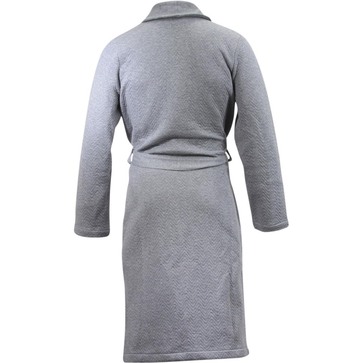 Hugo Boss Men\'s Contemporary Cotton Herringbone Dressing Gown Robe