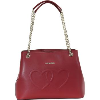 Love Moschino Women's Embroidered Hearts Satchel Handbag