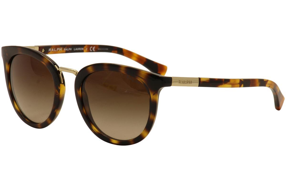 Image of Ralph By Ralph Lauren Women's RA5207 RA/5207 Fashion Sunglasses -  Dark Tortoise Gold/Dark Brown Gradient    150613 - Lens 52 Bridge 21 Temple 135mm