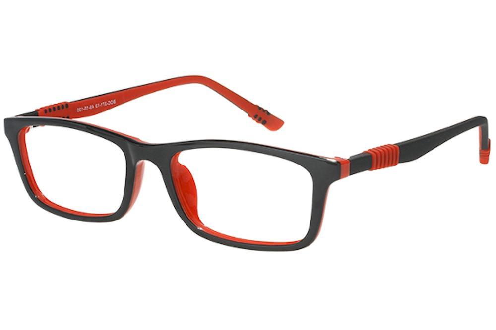 Image of Bocci Boy's Eyeglasses 371 Full Rim Optical Frame - Red   13 - Lens 49 Bridge 15 Temple 130mm