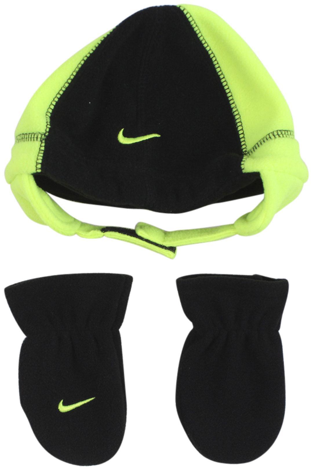 Nike Infant Boy's Swoosh Logo 2-Piece Beanie Hat & Mittens Set