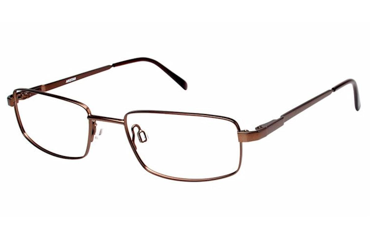 Image of Aristar By Charmant Men's Eyeglasses AR16204 AR/16204 Full Rim Optical Frame - Brown - Lens 55 Bridge 18 Temple 145mm