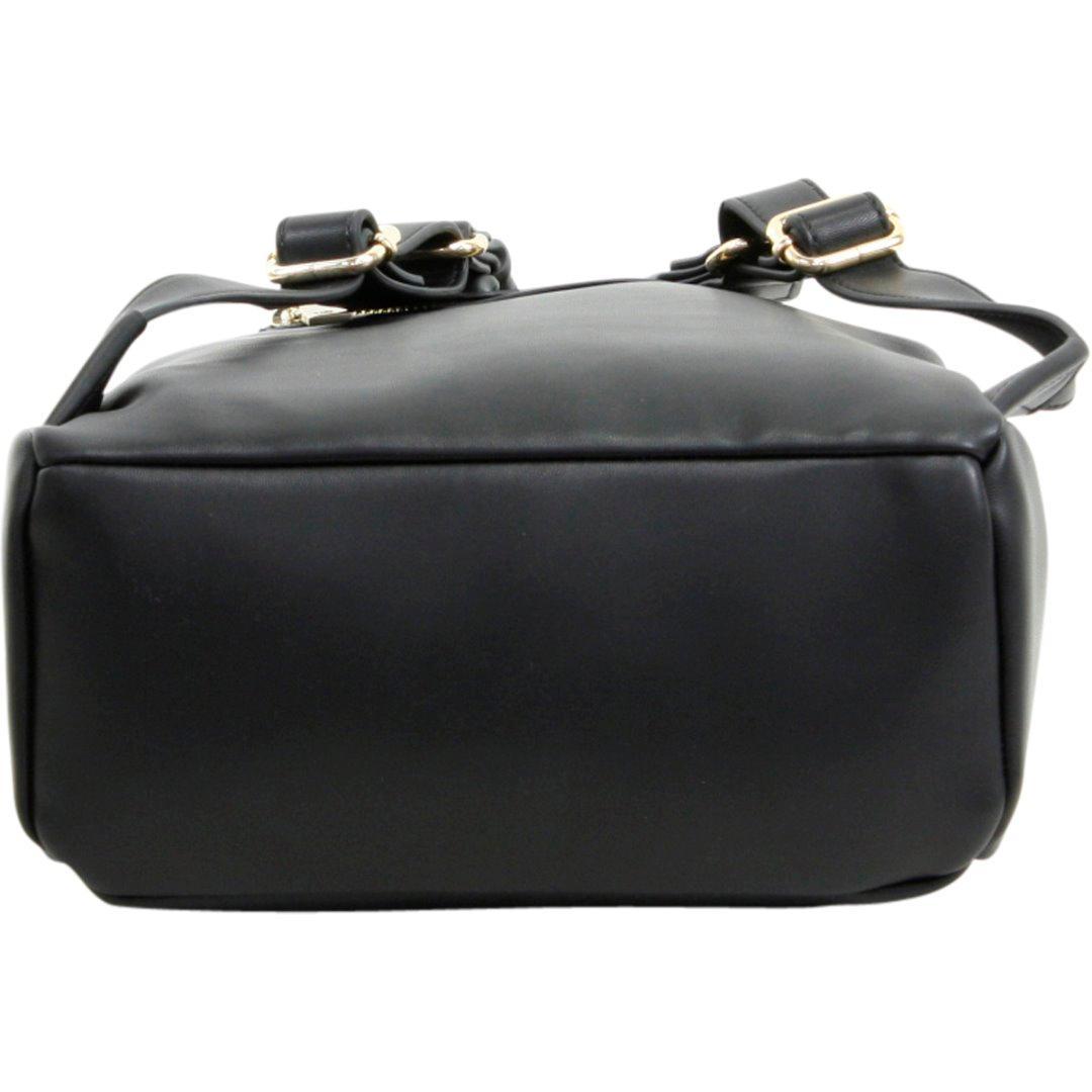 Love Moschino Women's Double Heart Book Bag Backpack