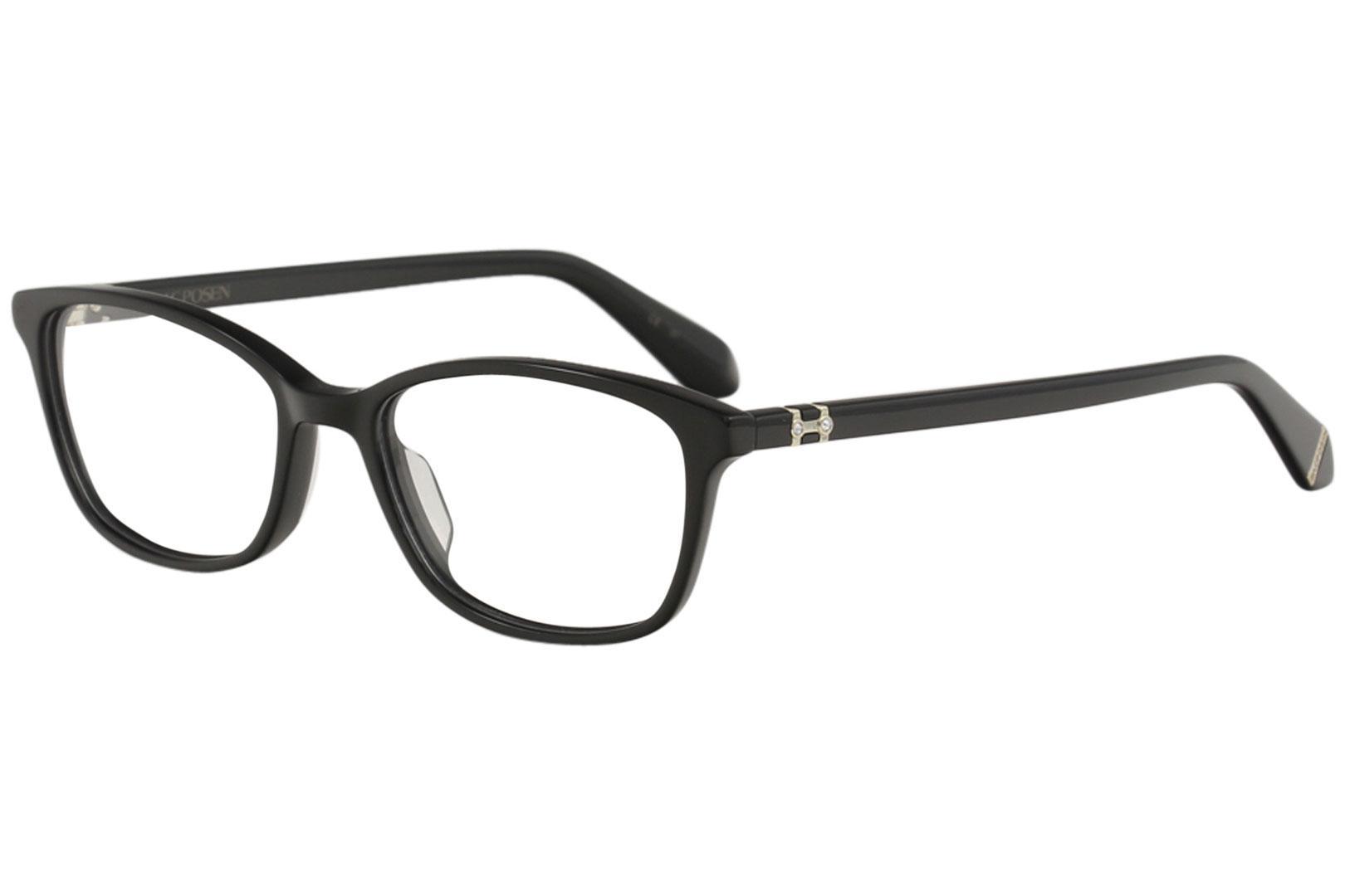 Image of Zac Posen Women's Eyeglasses Cecilee Full Rim Optical Frame - Black   BK - Lens 52 Bridge 16 Temple 138mm