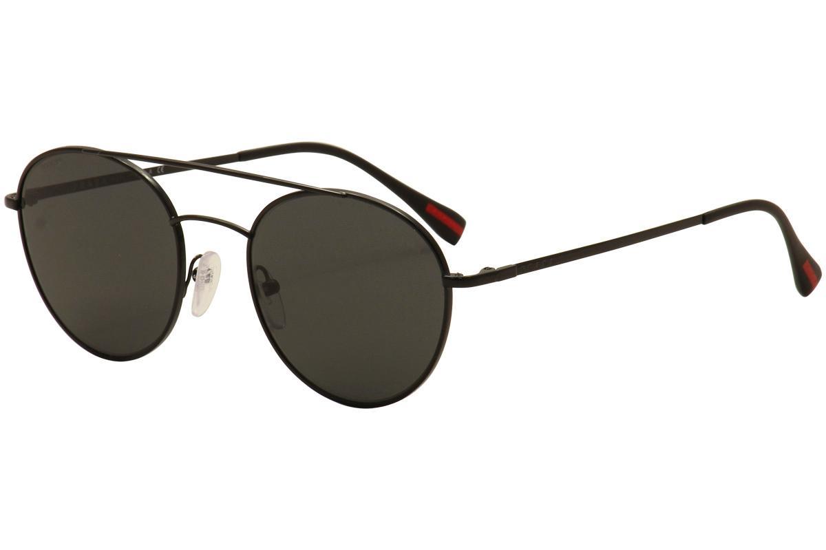 Image of Prada Linea Rossa Men's PS 51SS PS 51/SS Fashion Sunglasses - Black/Grey   7AX 5S0 - Lens 54 Bridge 20 B 49.1 ED 56.8 Temple 140mm