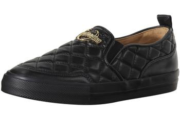 Love Moschino Women's Quilted Metal Logo Loafers Shoes