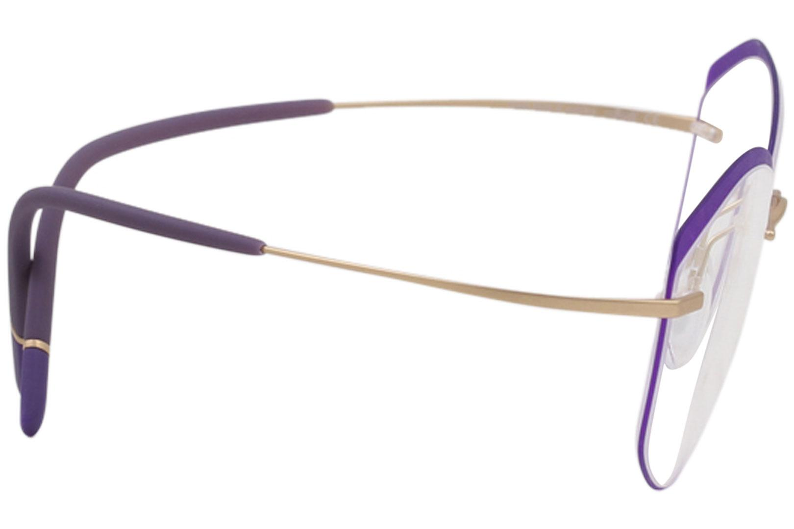 dd2c0723493 Silhouette Eyeglasses Titan Minimal Art The Icon Accent Rings 5518 Optical  Frame by Silhouette