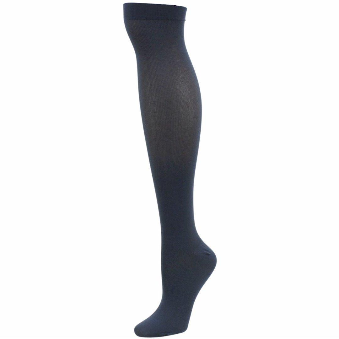 Image of Dr. Scholl's Women's Graduated Compression Moderate Support Knee Socks - Blue - Large Fits Shoe 8 10.5