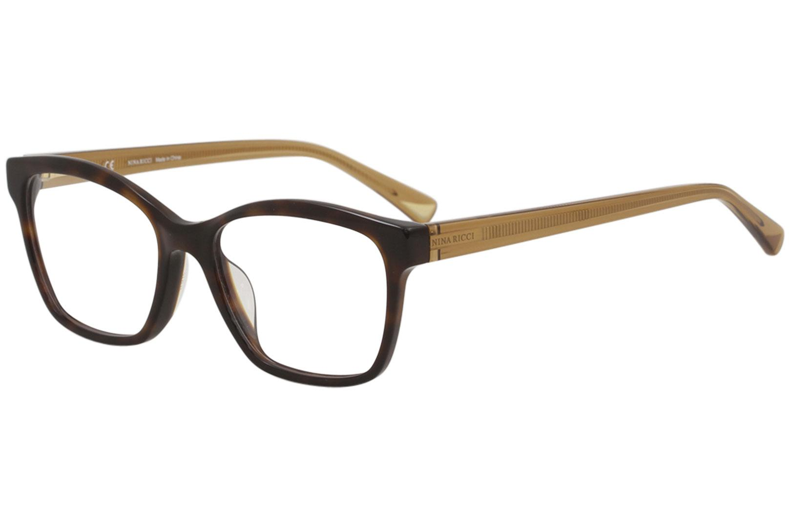Image of Nina Ricci Eyeglasses VNR071 VNR/071 09XK Havana Full Rim Optical Frame 51mm - Dark Havana   09XK - Lens 51 Bridge 17 Temple 140mm