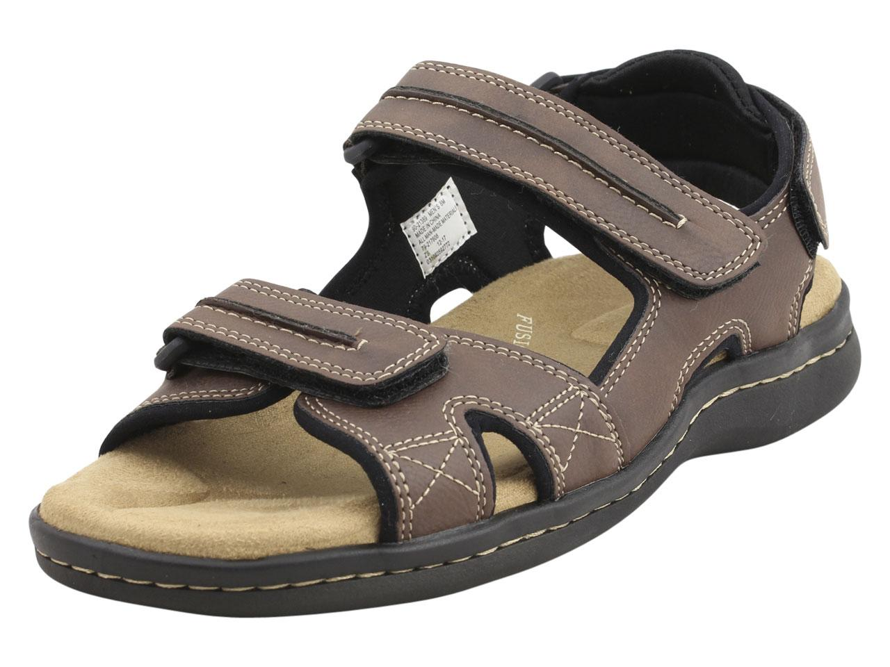 Image of Dockers Men's Newpage Memory Foam Sandals Shoes - Brown - 8 D(M) US