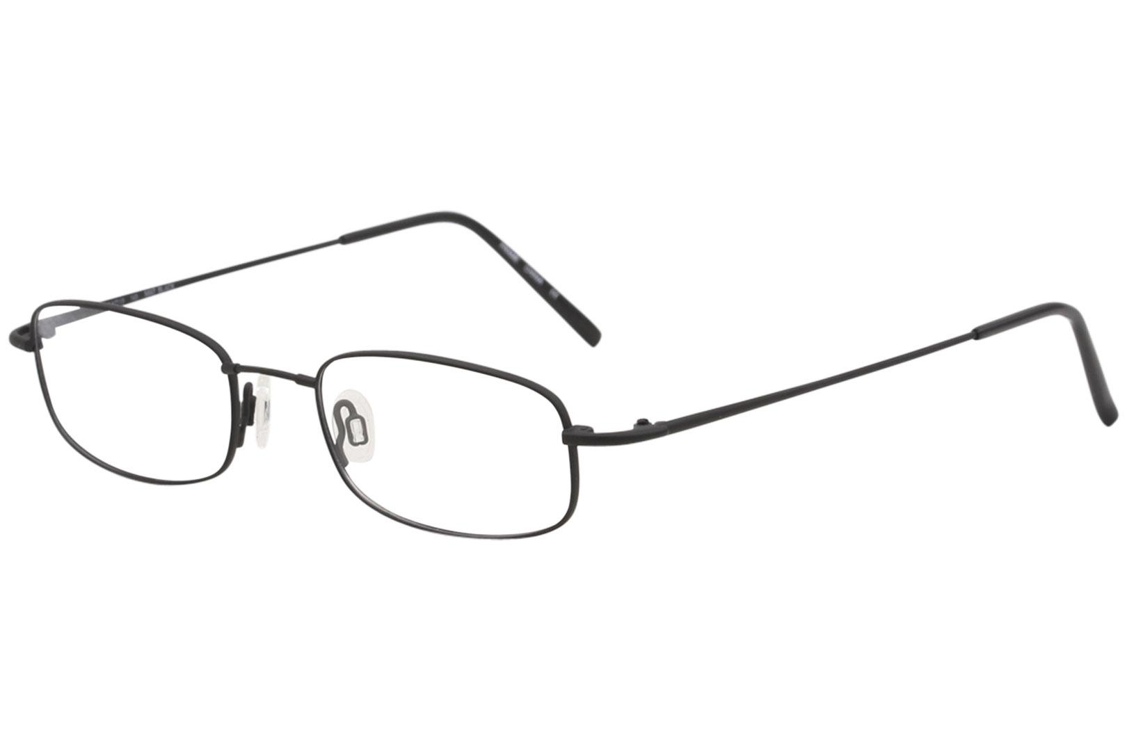 Image of Flexon Men's Eyeglasses 603 002 Matte Black Full Rim Optical Frame 51mm - Matte Black   002 - Lens 51 Bridge 19 Temple 145mm