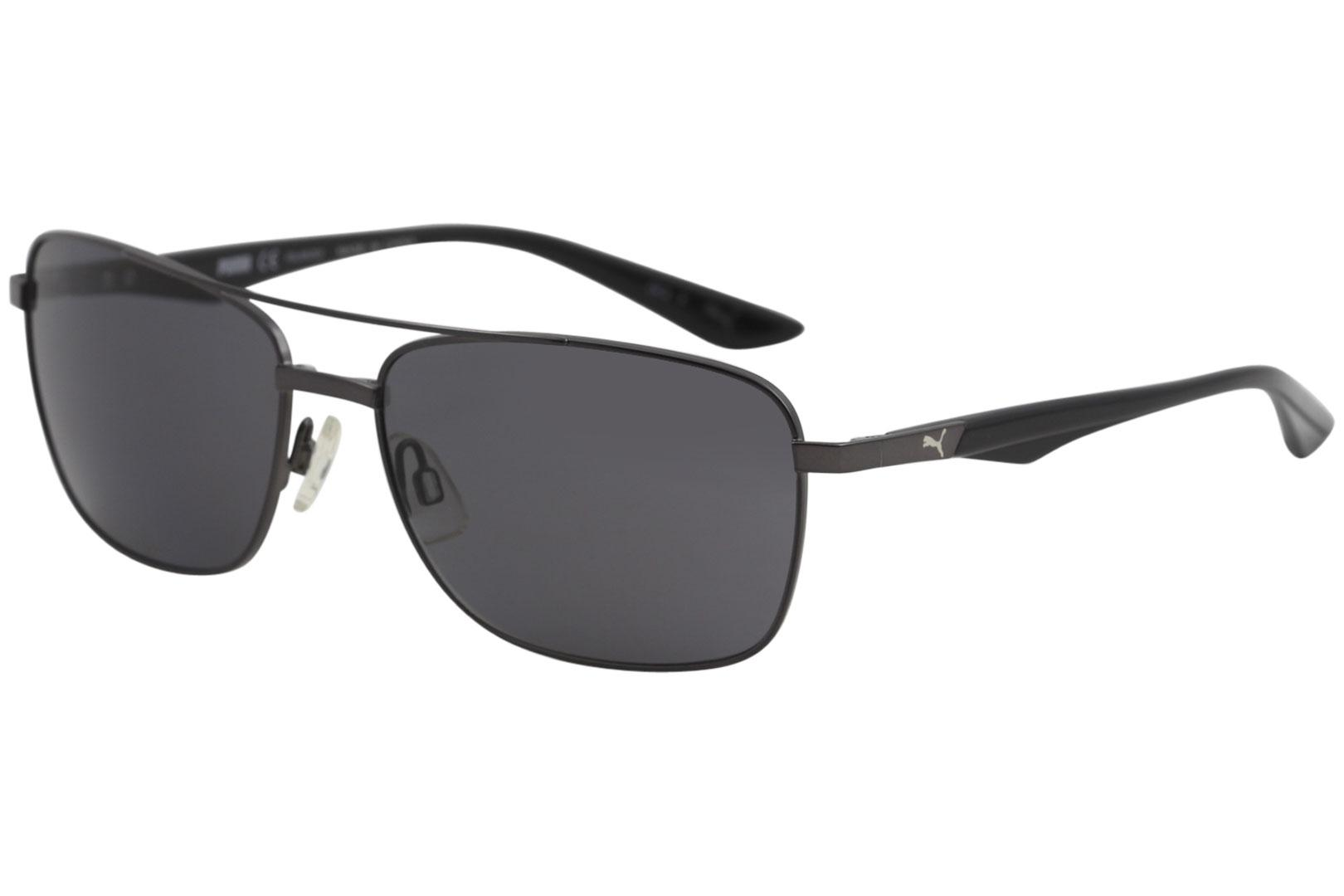 373e0d0612a Puma Men s Cosmos Navy PU0063S PU 0063 S Sport Pilot Polarized Sunglasses  by Puma
