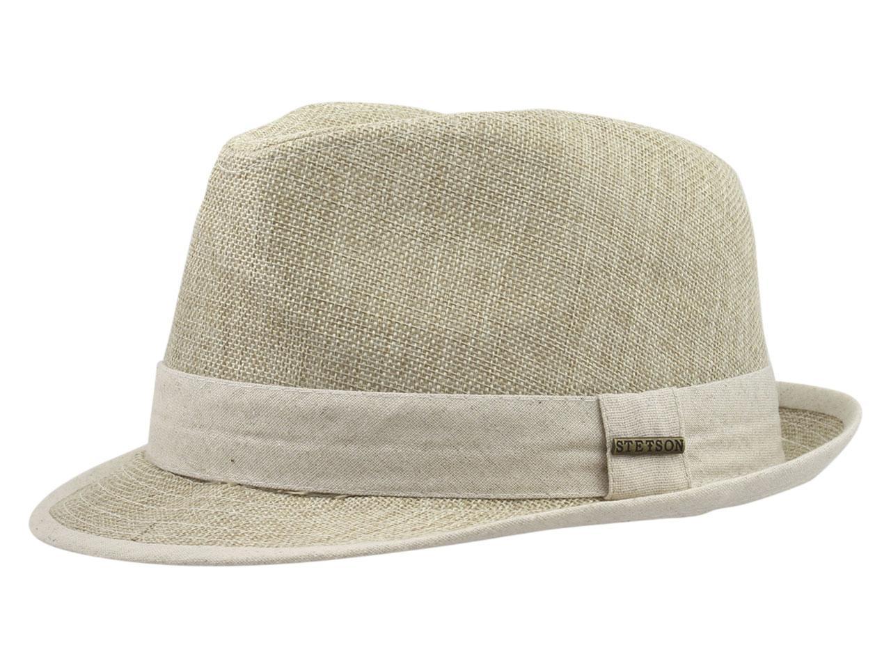 Image of Stetson Men's Contrast Trim Fedora Hat - Tan - Large