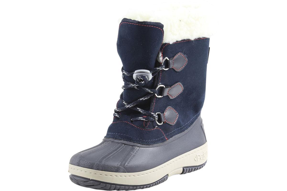 Image of Pajar Little/Big Boy's Marcel Waterproof Winter Boots Shoes - Navy - 1 M US Little Kid/32 M EU