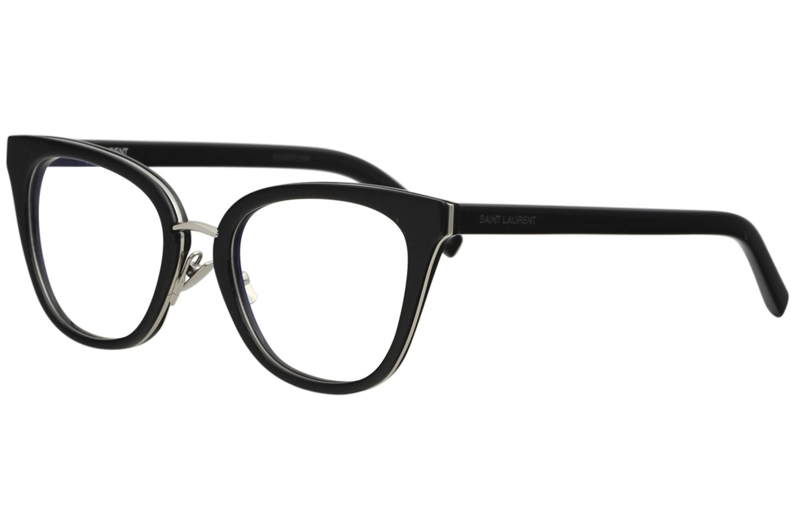 Image of Saint Laurent Eyeglasses SL220 SL/220 Full Rim Optical Frame - Black/Silver   002 - Lens 51 Bridge 20 Temple 145mm