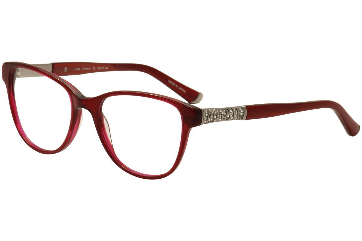 Image of Judith Leiber Couture Women's Lunar Eyeglasses Full Rim Optical Frame - Red - Lens 53 Bridge 17 Temple 140mm