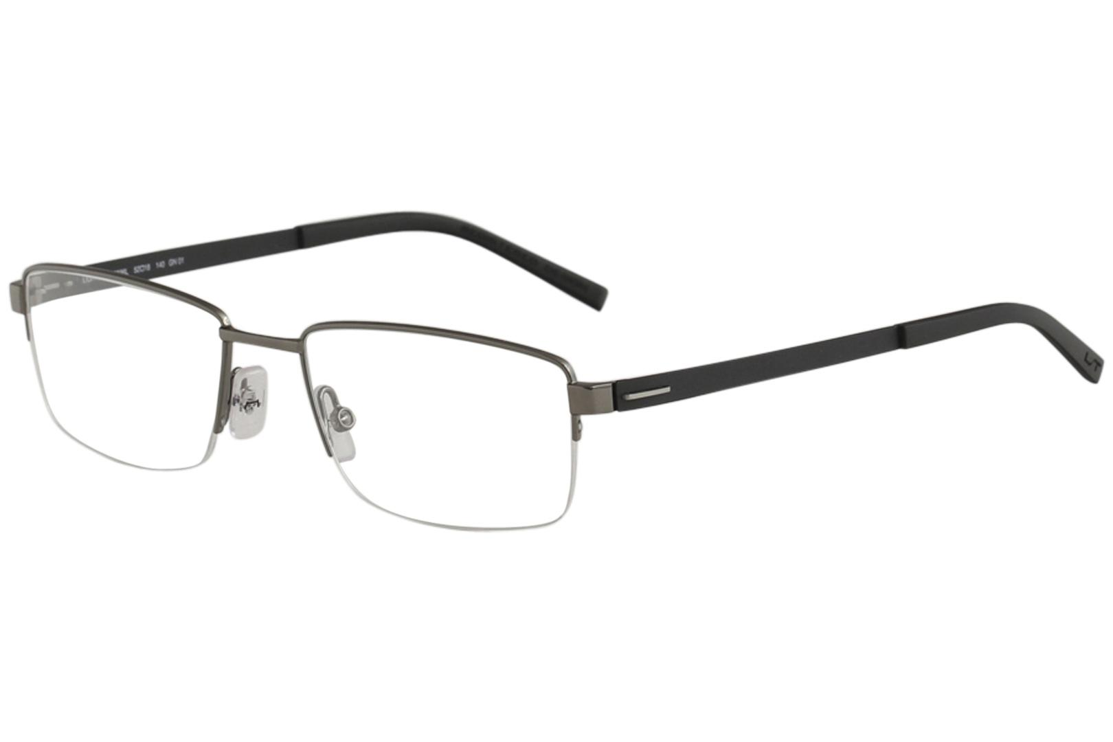 Morel Men's Eyeglasses Lightec 30036L 30036/L Half Rim Optical Frame