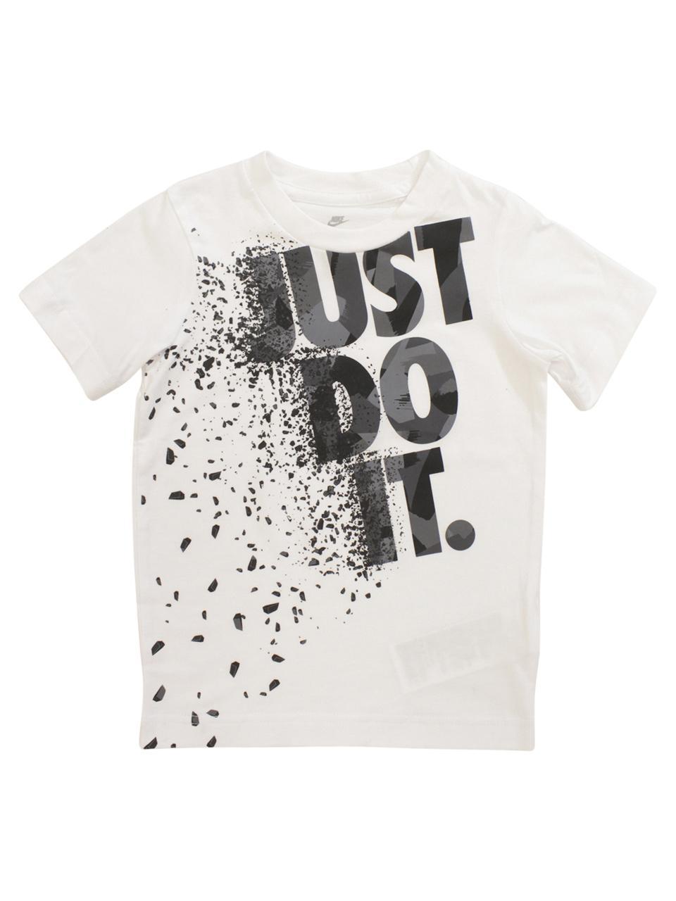 f198db48 Nike Little Boy's Exploding Logo Short Sleeve Crew Neck Cotton T-Shirt