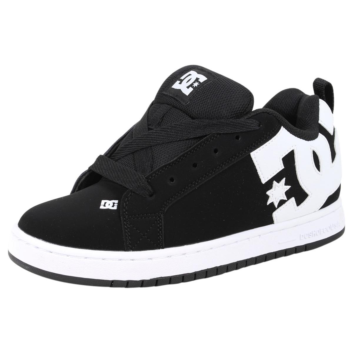 Image of DC Shoes Men's Court Graffik Skateboarding Sneakers Shoes - Black - 14 D(M) US