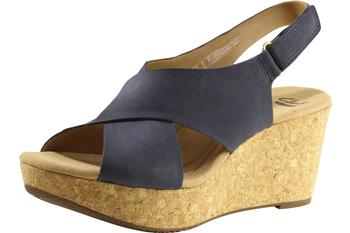 d4b3fc88e285 Clarks Women s Annadel Eirwyn Cork Wedge Sandals Shoes
