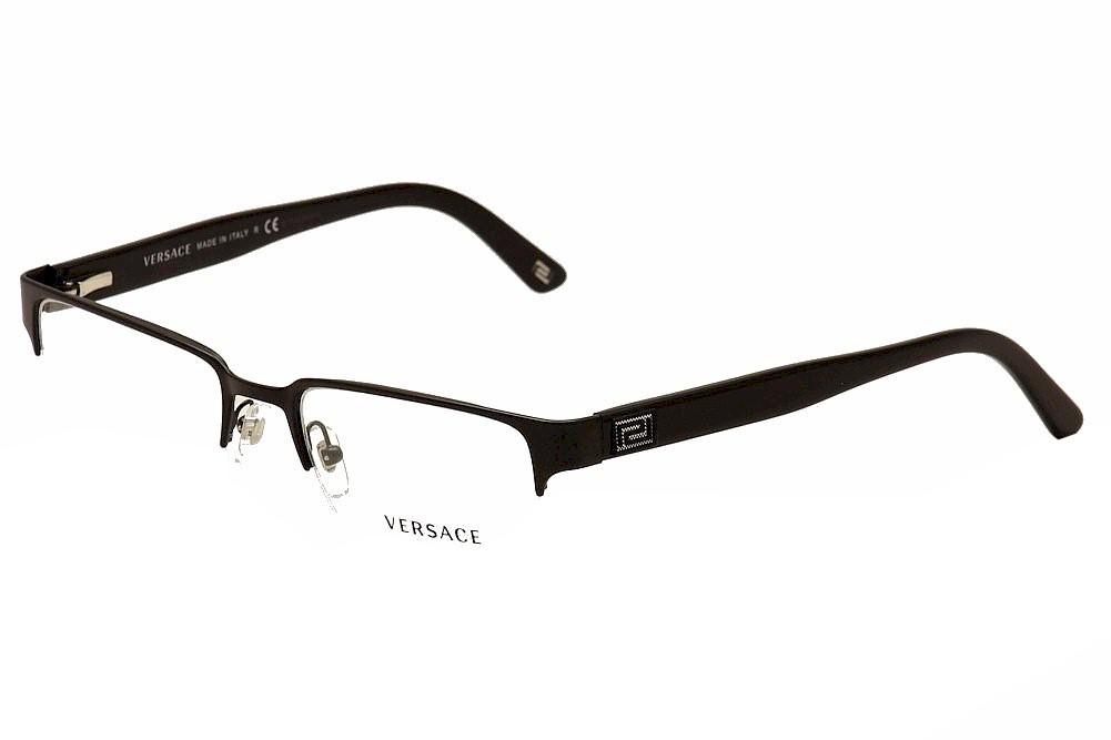 aec70666c9 Versace Men s Eyeglasses VE1184 1184 Half Rim Optical Frame
